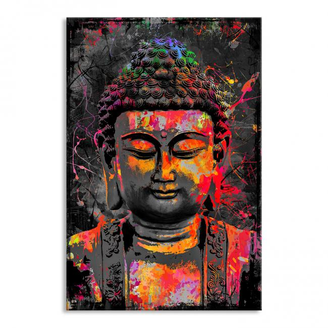 Poster laminiert colorful Buddha Abstrakt