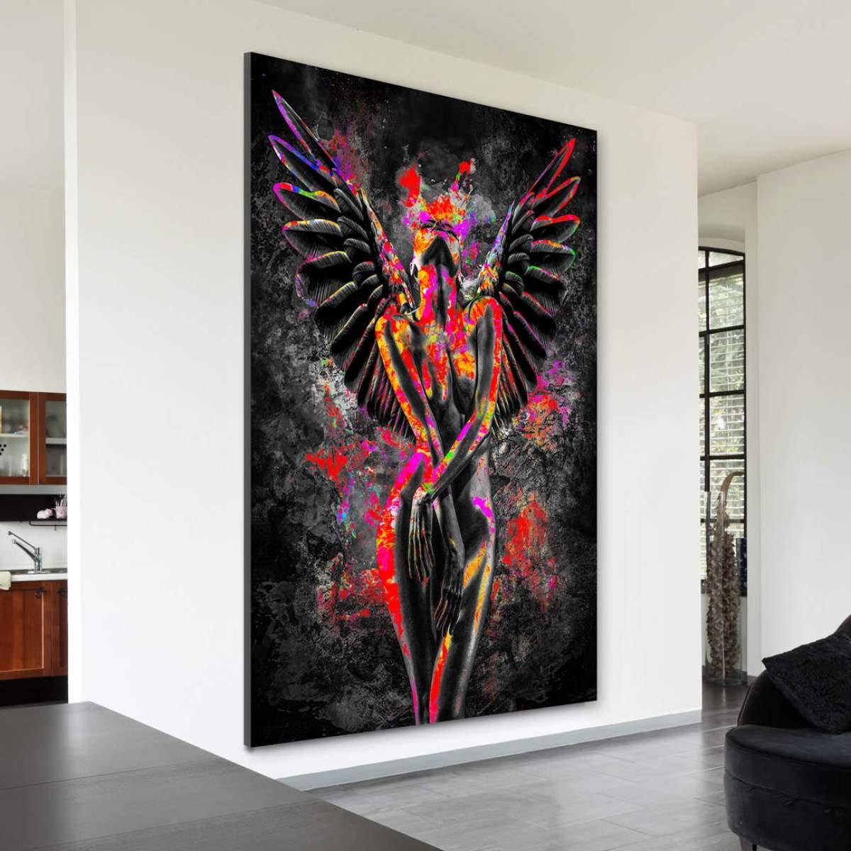 Erotik Engel als Leinwandbild bestellen | Kunstgestalten24.de