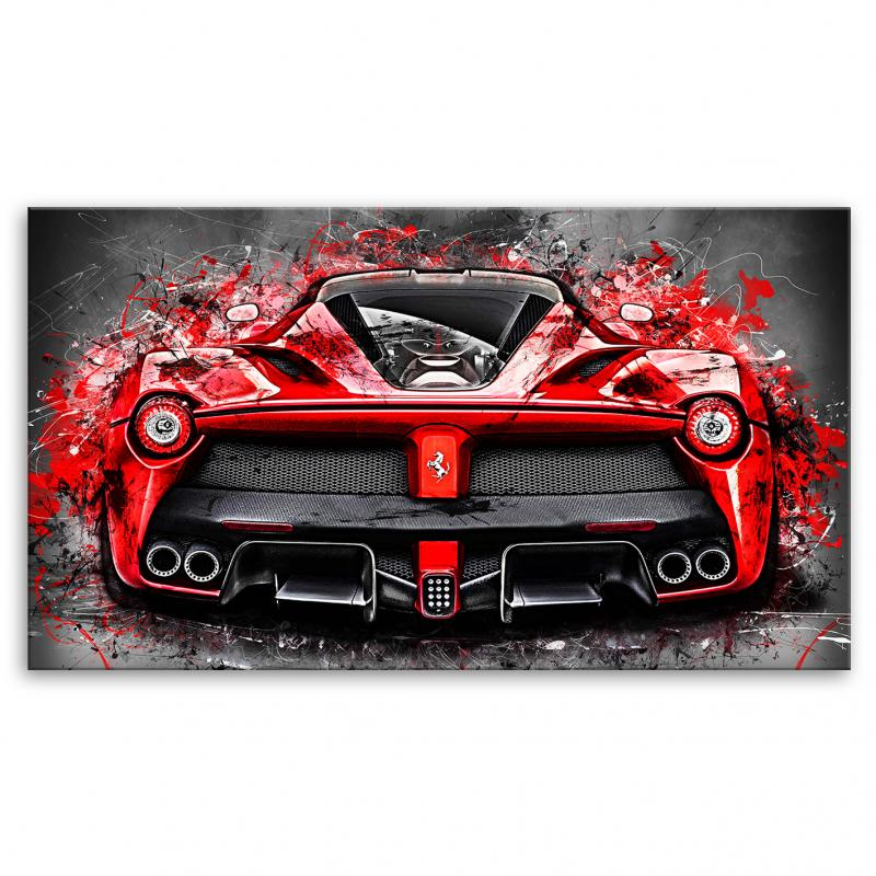 kunstgestalten24 onlineshop f r exclusive leinwandbilder und wandbilder ferrari laferrari. Black Bedroom Furniture Sets. Home Design Ideas