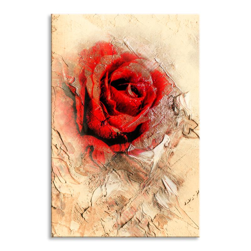 Leinwandbild Red Rose Abstrakt